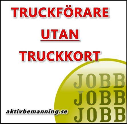 Truckförare utan truckkort
