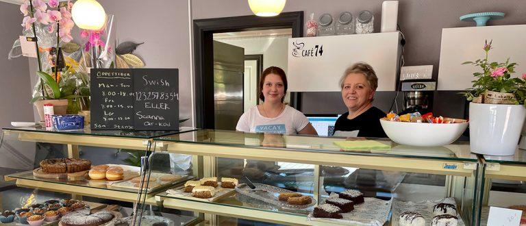 Nu är café 74 i Vaggeryd öppnat