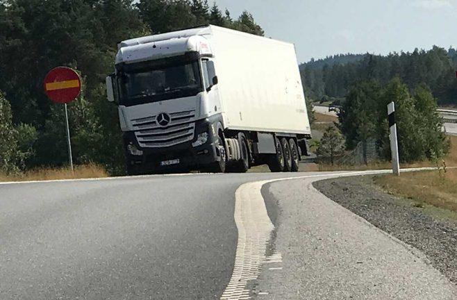 Problem med chaufförer som parkerar vid E4:an