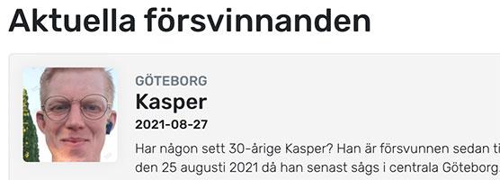 Har någon sett Kasper? – återfunnen